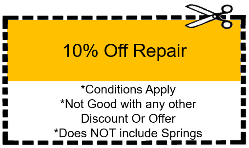 Garage Door Repair Discount Coupon